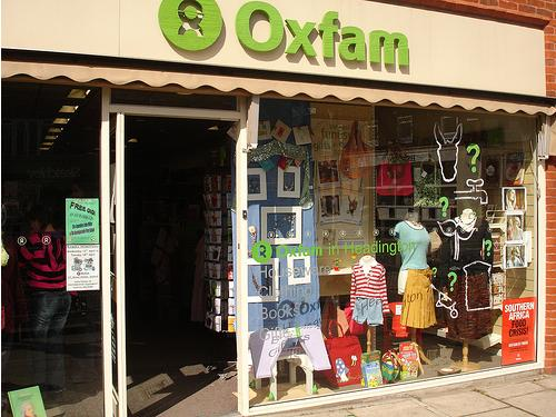 The first Oxfam shop, opened in Oxford in 1947