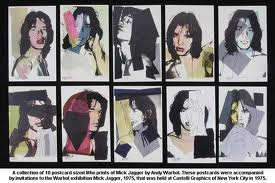 mick jagger, andy warhol, national portrait gallery